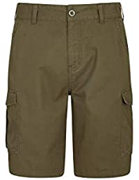 124e9472f7 Mountain Warehouse Lakeside Mens Shorts - 100% Durable Twill Cotton Cargo  Shorts, Durable Summer