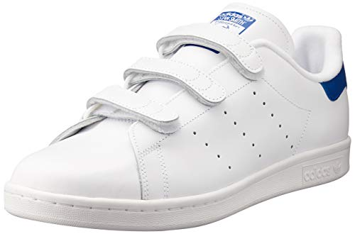 adidas Stan Smith Cf, Scarpe da Basketball Uomo, Bianco (Footwear White/Footwear White/Collegiate Royal), 46 EU