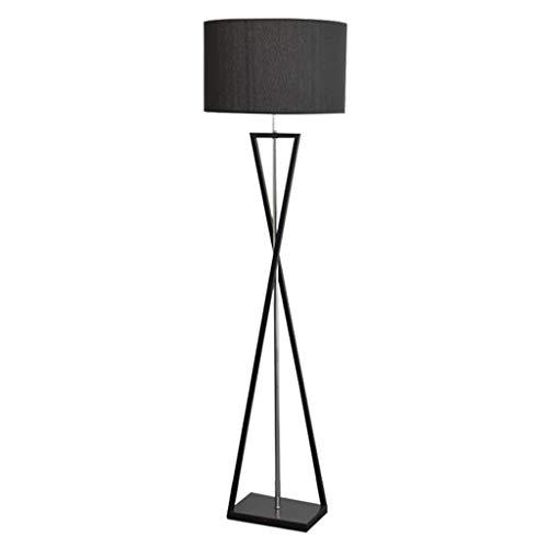 Lampadaire Lampadaire élégant en fer forgé Lampadaire d'étude Lampadaire personnalisé pour chambre Lampadaire simple (Color : Black-158x45cm)