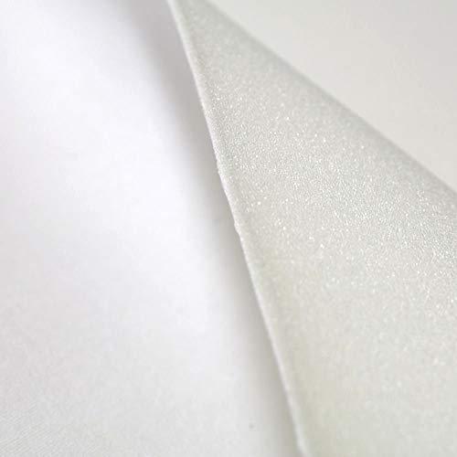 TOLKO Schaumstoff-Meterware | 5mm dick | mit Baumwoll-Molton beschichtet | Polster Möbelstoff für Sitzauflage Unterlage Matratze Füllung - zum Polstern und Beziehen | 155cm breit (Weiß)