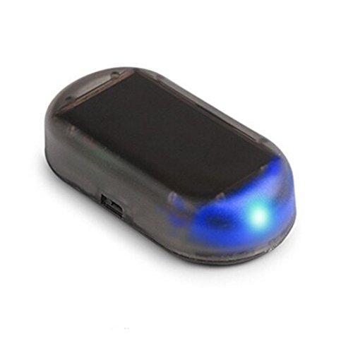 ALTcompluser Alarmanlage Auto, Solarladung Sicherheitsalarm Dummy Imitation Car Alarm LED Licht Sicherheitssystem Warnung Diebstahl Flash Blinken Sicherheitsposten Vorsicht Blitz (H01-2)