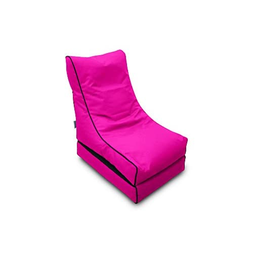 Pufmania Bean Bag Beanbag Lounger Polyester Waterproof 50 x 75 cm Folded/150 x 70 cm Deployed (Fuchsia)