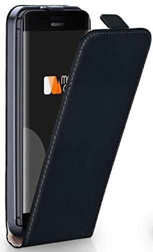 moex Huawei Mate 9 Pro | Hülle Schwarz 360° Klapp-Hülle Etui Thin Handytasche Dünn Handyhülle für Huawei Mate 9 Pro Case Flip Cover Schutzhülle Kunst-Leder Tasche