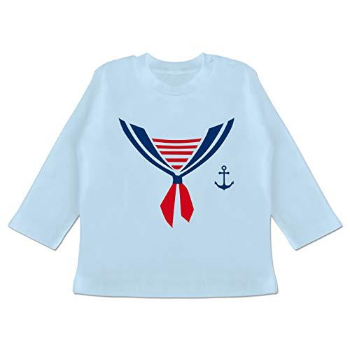 Karneval und Fasching Baby - Seefahrer Kostüm Halstuch - 18-24 Monate - Babyblau - BZ11 - Baby T-Shirt ()