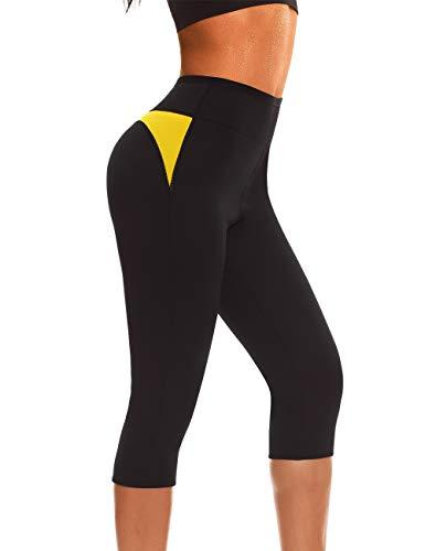 NINGMI Femmes Néoprène Sauna Minceur Legging Sudation Minceur Pantalons pour Perte De Poids Fitness Sport Gym Panty (XL)