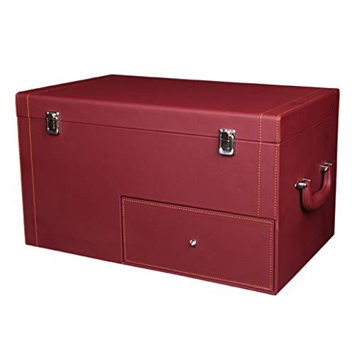 Coffre de Voiture Organisateur Coffre de Rangement pour Coffre avec tiroir Arrimage et Rangement Brilliant Firm (Color : Red, Size : 50 * 30 * 28cm)
