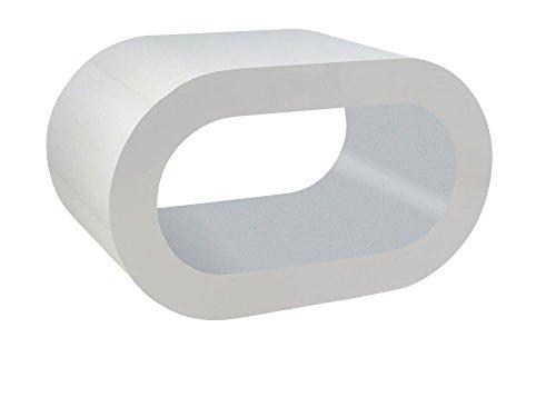 Zespoke Design Blanc Brillant et Mat Gris Cerceau Table Basse TV/Meuble en Différentes Tailles