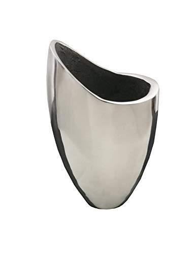 Natuzzi - Jarrón de acero de diseño italiano, usado segunda mano  Se entrega en toda España
