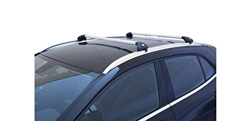 Auto-Dachträger, Gepäckträger, Viva 2, für Mercedes C-Klasse SW, ab Baujahr 2015 aluminium