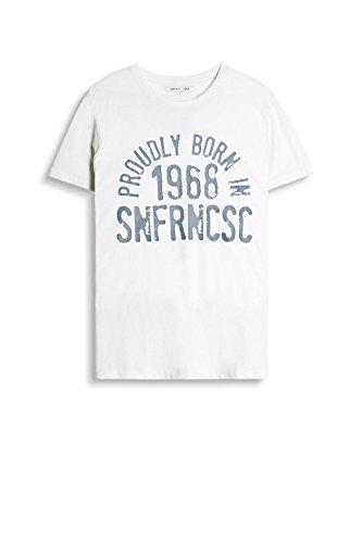 ESPRIT Herren T-Shirt Weiß (Off White 2 111)
