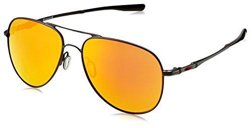 Ray-Ban Unisex-Erwachsene 0OO4119 Sonnenbrille, Mehrfarbig (Satin Black), 58