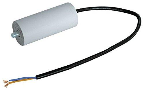 Kondensator für Blindleistungskompensation Motoren 12,5uF mit Kabel; für Waschmaschine, Spülmaschine ECC.ECC. - 12,5 A Motor