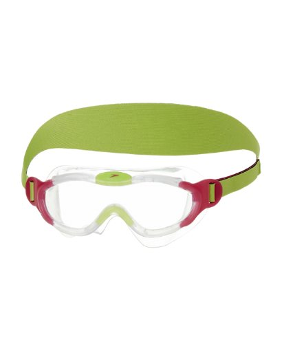 Speedo Unisex - Kinder Schwimmbrille Junior Sea Squad, clear/pink, one size, 8-087638028 (Schwimmen Männer Speedo)