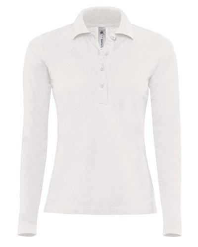 B&C - Polo - Femme Blanc