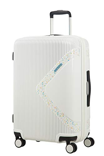 American tourister modern dream spinner valigia 69 cm, 81 l, bianco (stardust)