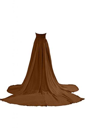 Sunvary 2014 donna semplice A-Line abiti lunghe scollo Sweetheart Chiffon Prom Gowns Marrone