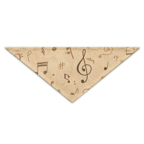 Gxdchfj Abstract Musical Note Pattern Triangle Pet Scarf Dog Bandana Pet Collars for Dog Cat - ()