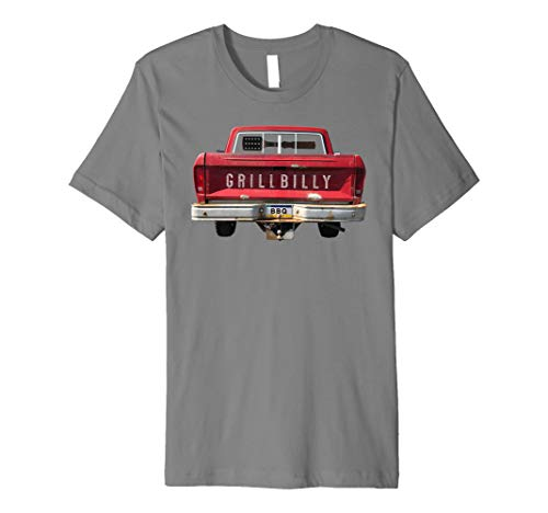 grillbilly Truck mit Spatel Gun Rack Funny BBQ T-Shirt