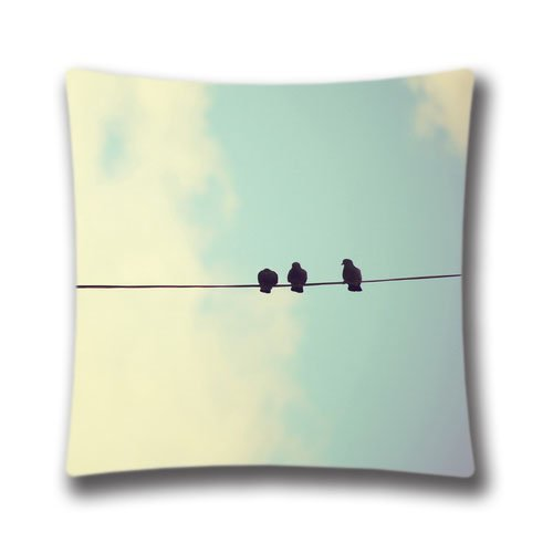 Amazing Spring Pillowcase 18X18 inch twin sides Imac Pigeons Pattern Pillow Cover Cases,Art6721
