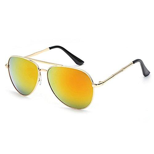 Btruely Herren 2018 Gafas de Sol Aviator UV400 polarizadas para Hombres y Mujeres Gafas de Sol Deportes al Aire Libre Glasse Gafas de Sol Unisex Vintage Cuadrados Espejo (A)