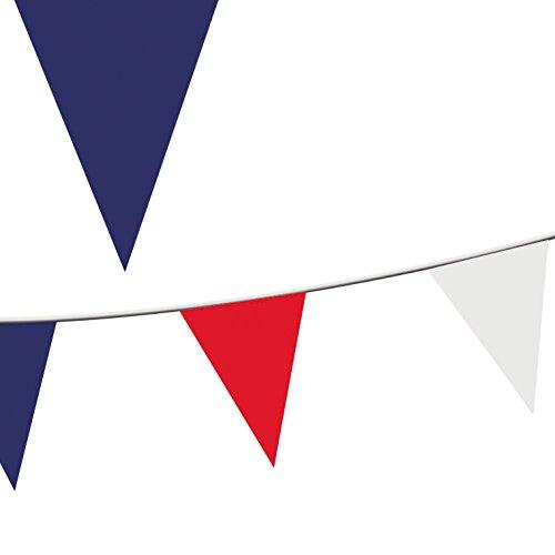 100 m, Rot/Weiß/Blau, Wimpel Girlande PE Kunststoff VE Day-Feiern und Veranstaltungen, Sportveranstaltungen, St. Patrick's Day Besuche andere Anlässe, Royal -