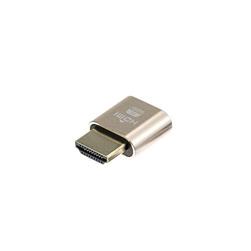 ADWITS 1-Pack 4K 2K 1080P 30Hz bis 60Hz Unterstützung HDMI Display Emulator DDC EDID Headless Ghost Monitor Adapter Dummy Stecker, Höchste 4096x2160 @ 60Hz in Gold Farbe (Bio 2 Für Dummies)