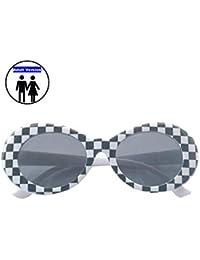 f3a353491b FOURCHEN Gafas de sol para mujer/hombre, Bold Retro Oval Mod Gafas de sol