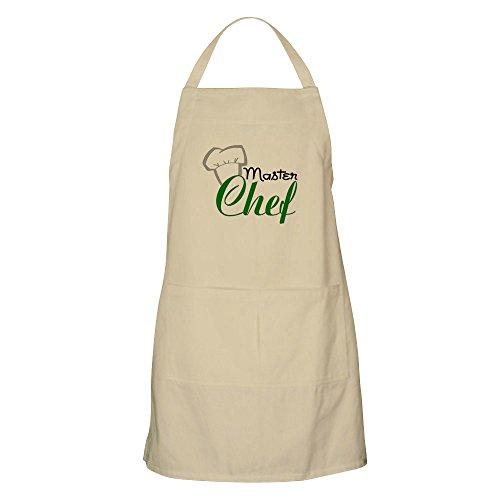 CafePress-Master Chef BBQ-Küche Schürze mit Taschen, Grillen Schürze, Backen Schürze khaki