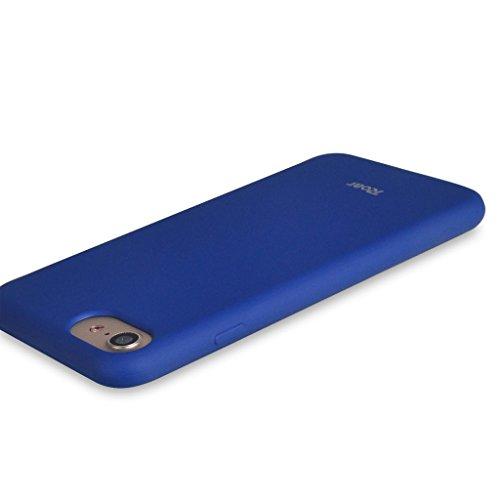 UKDANDANWEI iPhone 7 [Rr] Hülle Case, [ALL DAY] Colorful Jelly Case 360°Outdoor Touch Case Schutz Cover Hülle Handyhülle Silikon kratzfeste stoßdämpfende Case für iPhone 7 Rot ALL DAY-Blau