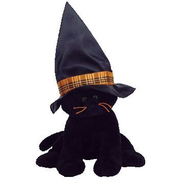 TY Pluffie Merlin the Black Cat 10 by TY~BABY RANGE INCLUDING PLUFFIES