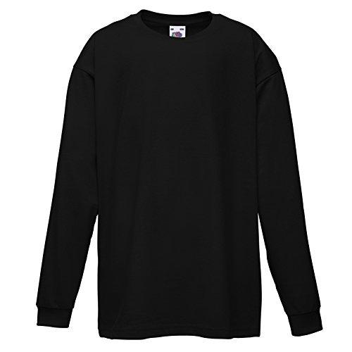 fruit-of-the-loom-bambini-manica-lunga-valueweight-t-shirt-ss007-nero-9-11-years