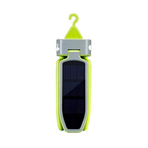 Lcxligang Klee-Form-Solar-hängendes Zelt-kampierendes Licht-Akku, der geführte kampierende Lager-Beleuchtung faltet (Color : Green)