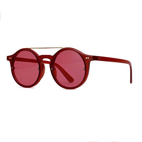 WILL Koreanische Sonnenbrille, Retro Sonnenbrille, Marine Color Hip Hop Brille