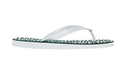Flopz Tongs Emerald White Straps