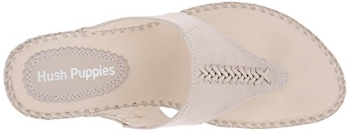 Hush Puppies Women's Aven Copacabana Wedge Sandal, Off White Leather, 10 M US Off White Leather