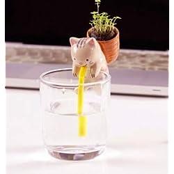 Shopmeeko Animal Farm Keramik-Rucksack Blumentopf Chuppon selbstbewässernde Tier-Pflanzgefäße Desktop Mini Topfpflanze Kreatives Geschenk: Katze