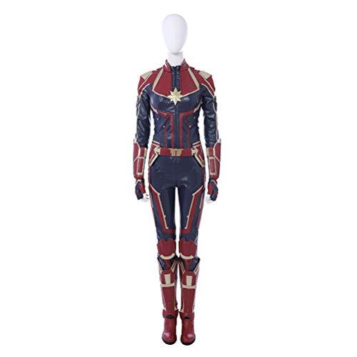 CosplayJet Damen Anzug Captain Carol Danvers Cosplay Kostüm X-Large