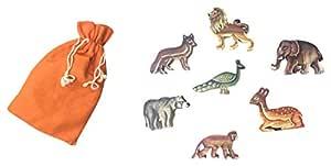 Chaya Nisarga Jungle Animal Set (Pack of 7)