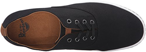 Dr.Martens Mens Lakewood Waxy Canvas Leather Shoes Black+tan