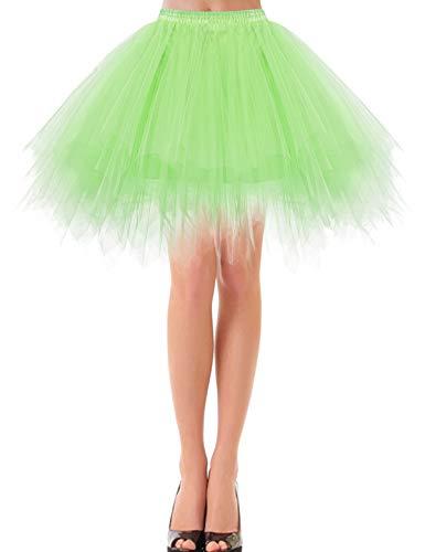 Ballet Kostüm Übergröße - bbonlinedress Kurz Retro Petticoat Rock Ballett Blase 50er Tutu Unterrock Mint M