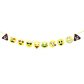 Aixin Emoji Banner Emoticon Party Decorations Birthday Snack Decorations Picks Suppliers Party Accessories for Wedding Party Supplies