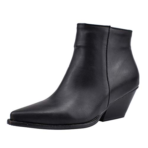 VECDY Schuhe Damen Boots Ankle Stiefel Stiefeletten Hoher Absatz Ankle Boots Große Schuhe Knight Boots Casual Short Booties Turnschuhe 35-43 -