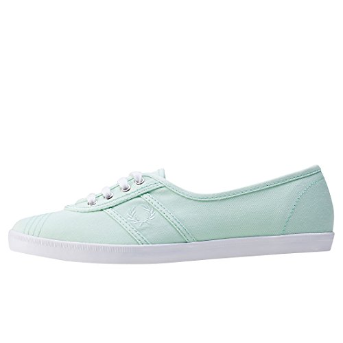 Fred Perry - Scarpe turchesi da donna Fred Perry Aubrey Twill Dusty Aqua Green