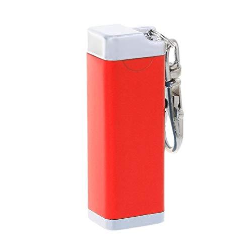 L'Miracle Home 35g Tragbare Metall Mini Pocket Keychain Aschenbecher Strand Public Smoking Für Wandern Camping Outdoor Zubehör, Rot