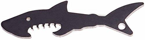 !! UNKAPUTTBAR !! Flaschenöffner Typ Hai aus Edelstahl als Schlüsselanhänger auch ideal für Fans der Kölner Haie