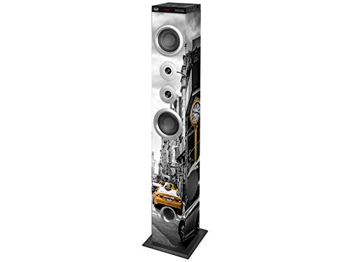 Trevi XT 104 BT Soundtower Altoparlante Speaker Amplificato a Torre, Bluetooth, Mp3, USB, SD, Aux-In, Colore NY Taxi