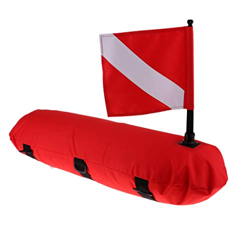 T TOOYFUL Bouée Drapeau de Signalisation Gonflable Revêtement PU Bouée de Plongée sous-Marine