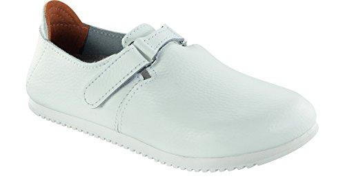 Birkenstock Unisex-Erwachsene 583174 Linz SL Damen & Herren Clogs, Pantoletten, Sandalen weiß (White), EU 45