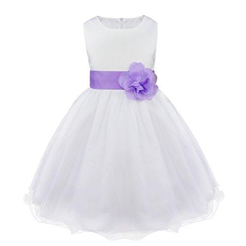 Freebily Enfants Filles Robes de Princesse Cérémonie Mariage Parti Tenue Fleur Robe Fille Grande...