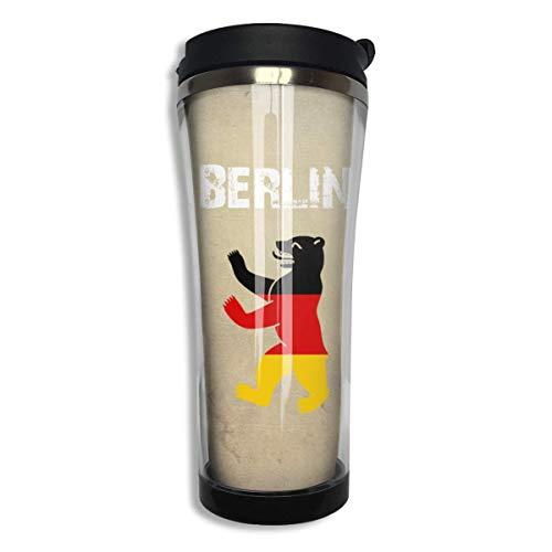 Bgejkos Standing Berlin Bear Stainless Steel Coffee Mug 14.2 Oz Coffee Cup Leakproof Insulated -